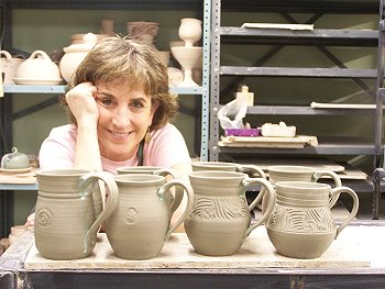 Functional and decorative handcrafted pottery by artist Susan Gerr